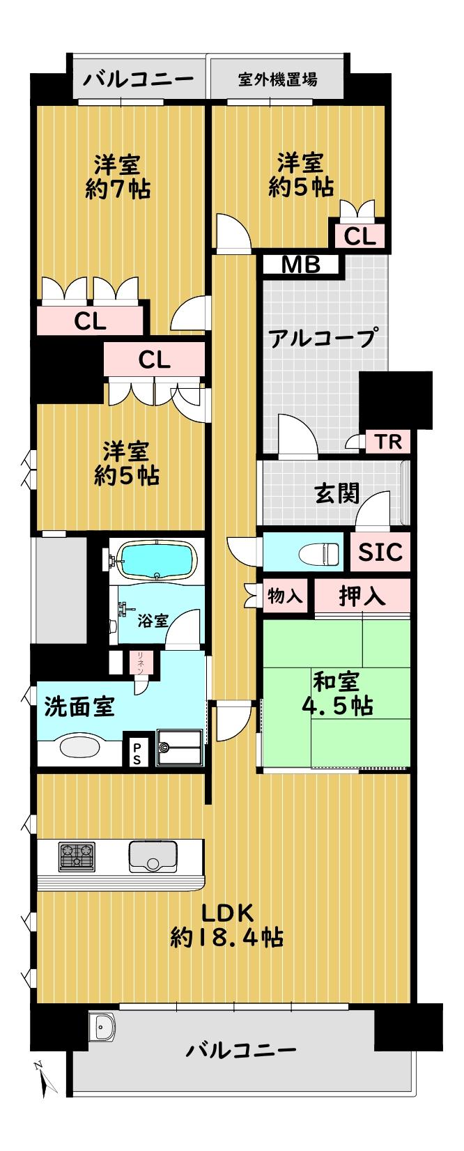 ローレルコート宝塚武庫川町1401 間取り